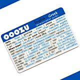 OOOZU Greek Language Card | Convenient Greek Phrasebook Alternative | Essential Greek For Travel To Greece/Athens/Crete/Corfu/Cyprus