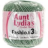 Coats Crochet Aunt Lydia's Fashion Crochet, Cotton Size 3, Sage