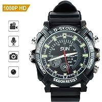 Full HD 1080P Hidden Spy Camera Waterproof Watch Mini DV Recorder with Infrared Night Vision Digital Video DVR 8GB Memory@Laing