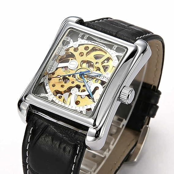 Reloj De Caballero Alps Automático Con Transparente Rectangular shCoxBtQdr