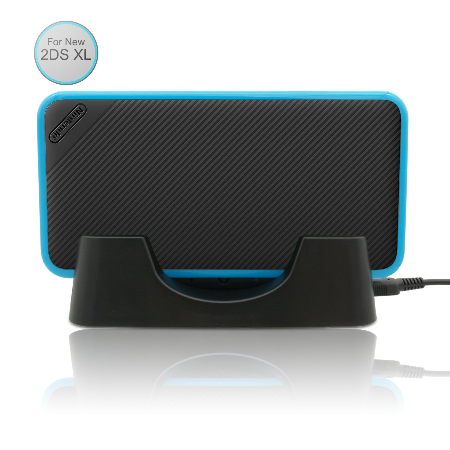 FastSnail Charging Dock For New Nintendo 2DS XL, Charging Station Cradle Stand for 2017 New Nintendo 2DS XL/LL With Mini USB Cable