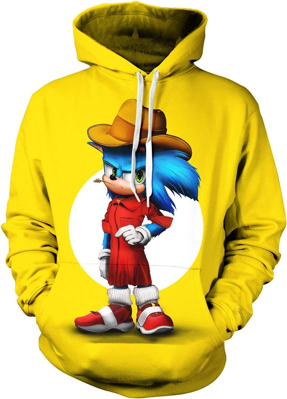 Youth Fashion Hoodie 3D Print Sweatshirtr Game Long Sleeve Hoodie for Boys and Girls
