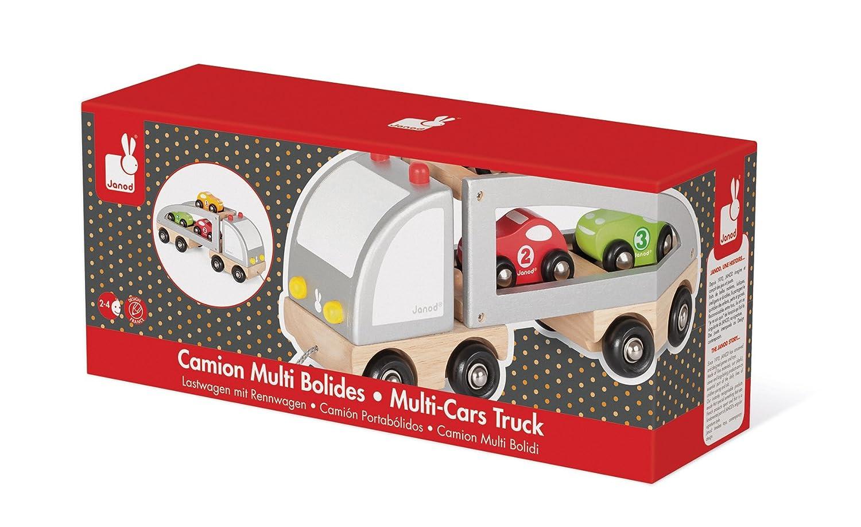 Janod - Camión transporta coches a estirar (J05603): Amazon.es: Juguetes y juegos