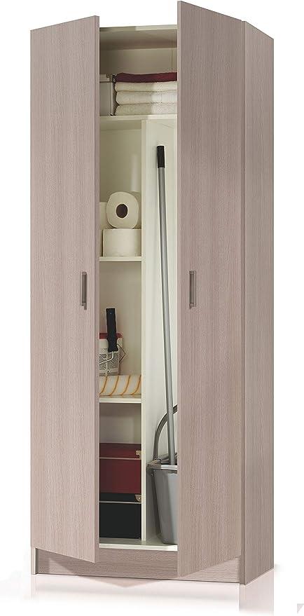 Armadio Portascope In Legno.Esidra Armadio Portascope 2 Ante Bianco 180 X 73 X 37 Cm Amazon It Casa E Cucina