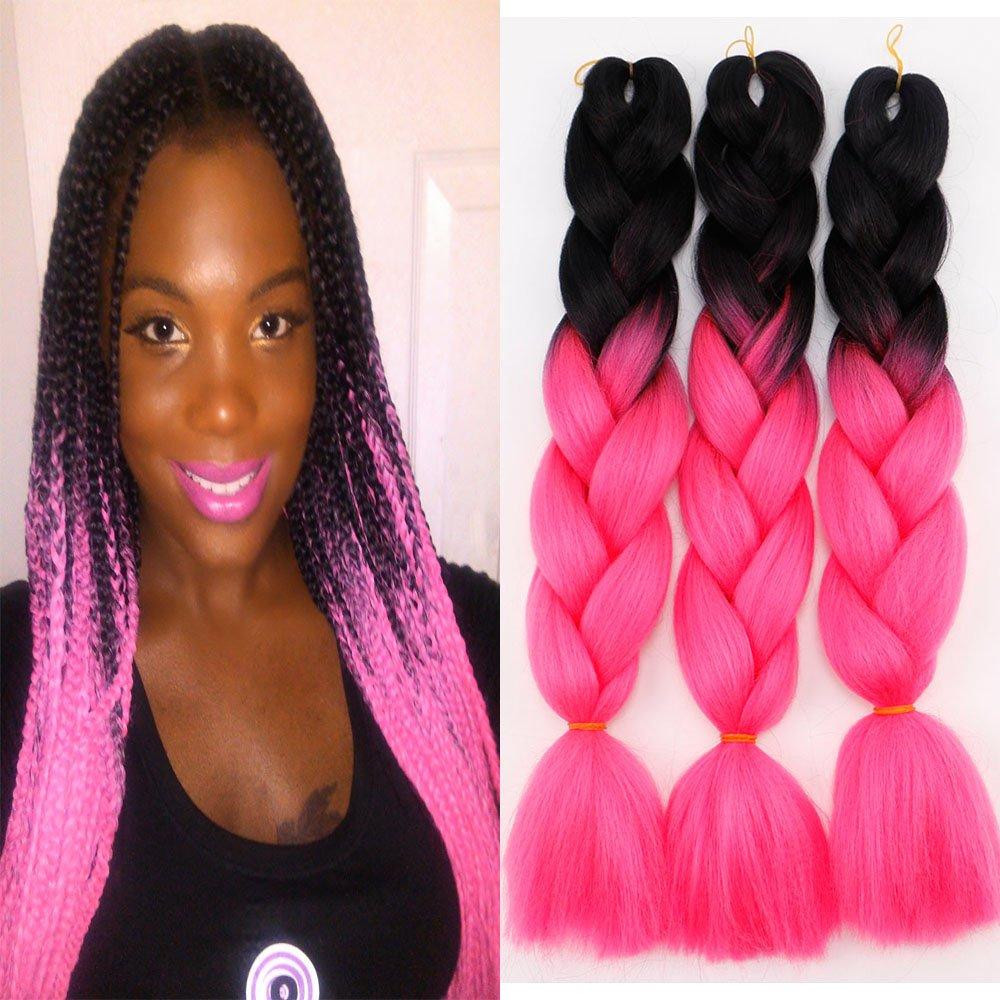 Amazon 3pcslot Ombre Kanekalon Braiding Hair Extensions 24