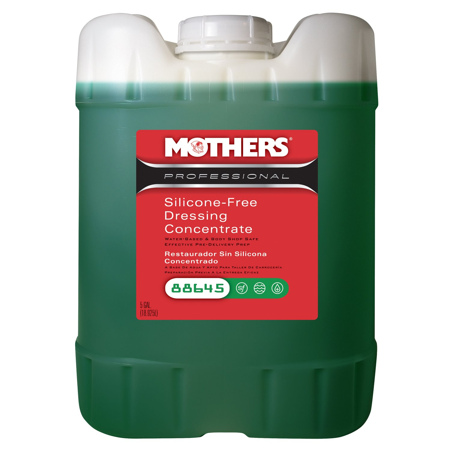 Mothers 88645 Professional Silicone-Free Dressing Concentrate - 5 Gallon