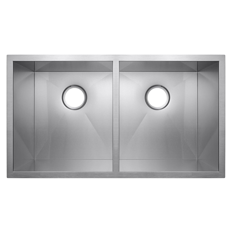 golden vantage 32 x 18 x 9 double bowls basin 18 gauge