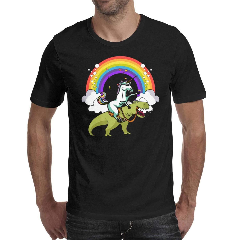 Amazon.com: Unicorn Riding Dinosaur T-Rex Mens t Shirts ...