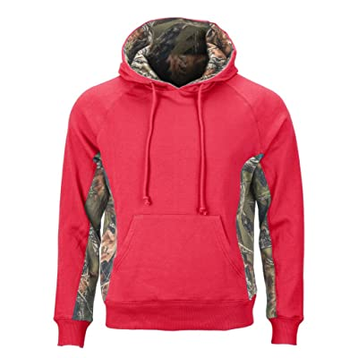 Trail Crest Women's Camo Hooded Sweatshirt, XL, Coral at Women's Clothing store