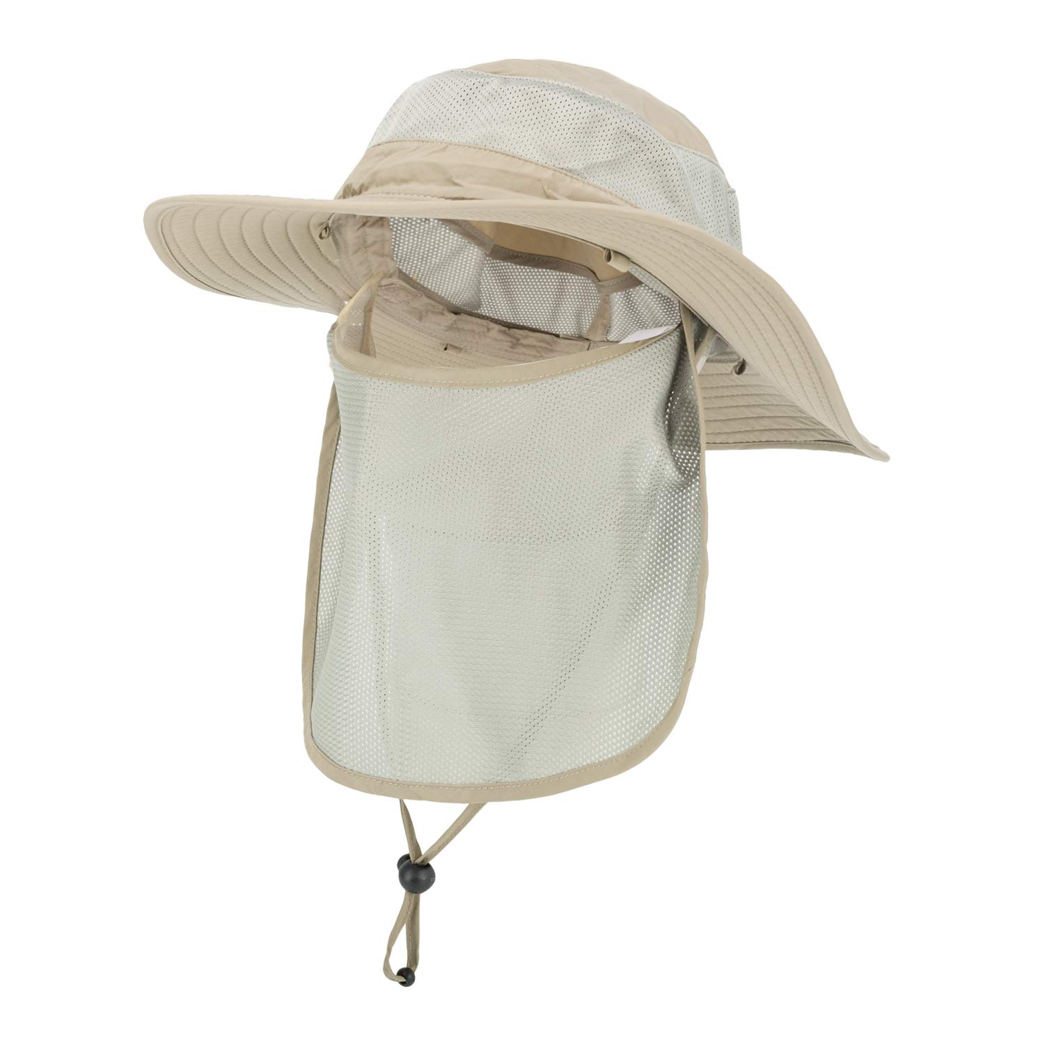 ASY Outdoor Sun Hat UPF 50 Protection Boonie Waterproof Fishing Cap for Men /& Women Face Cover Summer Removable Mesh Neck Face Flap Hat