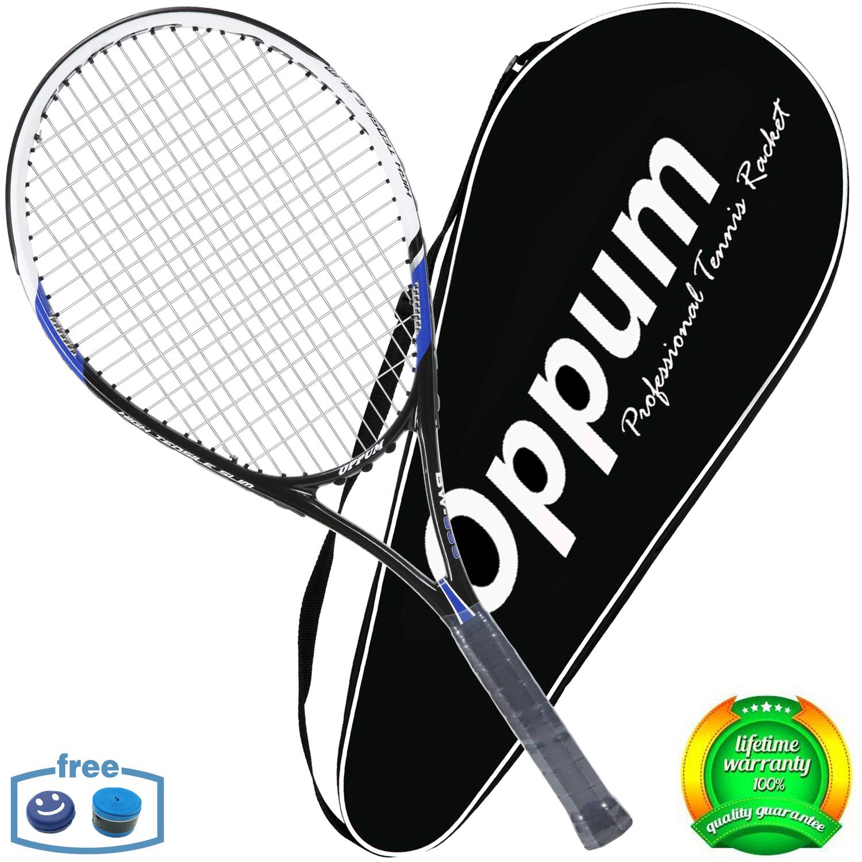 3568a62a086e5 oppum Adult Carbon Fiber Tennis Racket, Super Light Weight Tennis Racquets  Shock-Proof and Throw-Proof,Include Tennis Bag Tennis Overgrip
