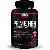 Prime HGH Secretion Activator Supplement for Men with L-Arginine and L-Glutamine to Trigger HGH Production, Boost Workout For