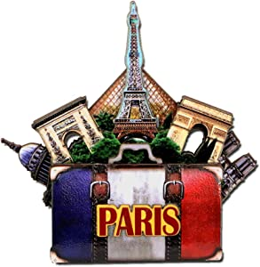 Effiel Tower Magnet 4 Inch 3D Paris Magnet and Landmarks with Notre Dame
