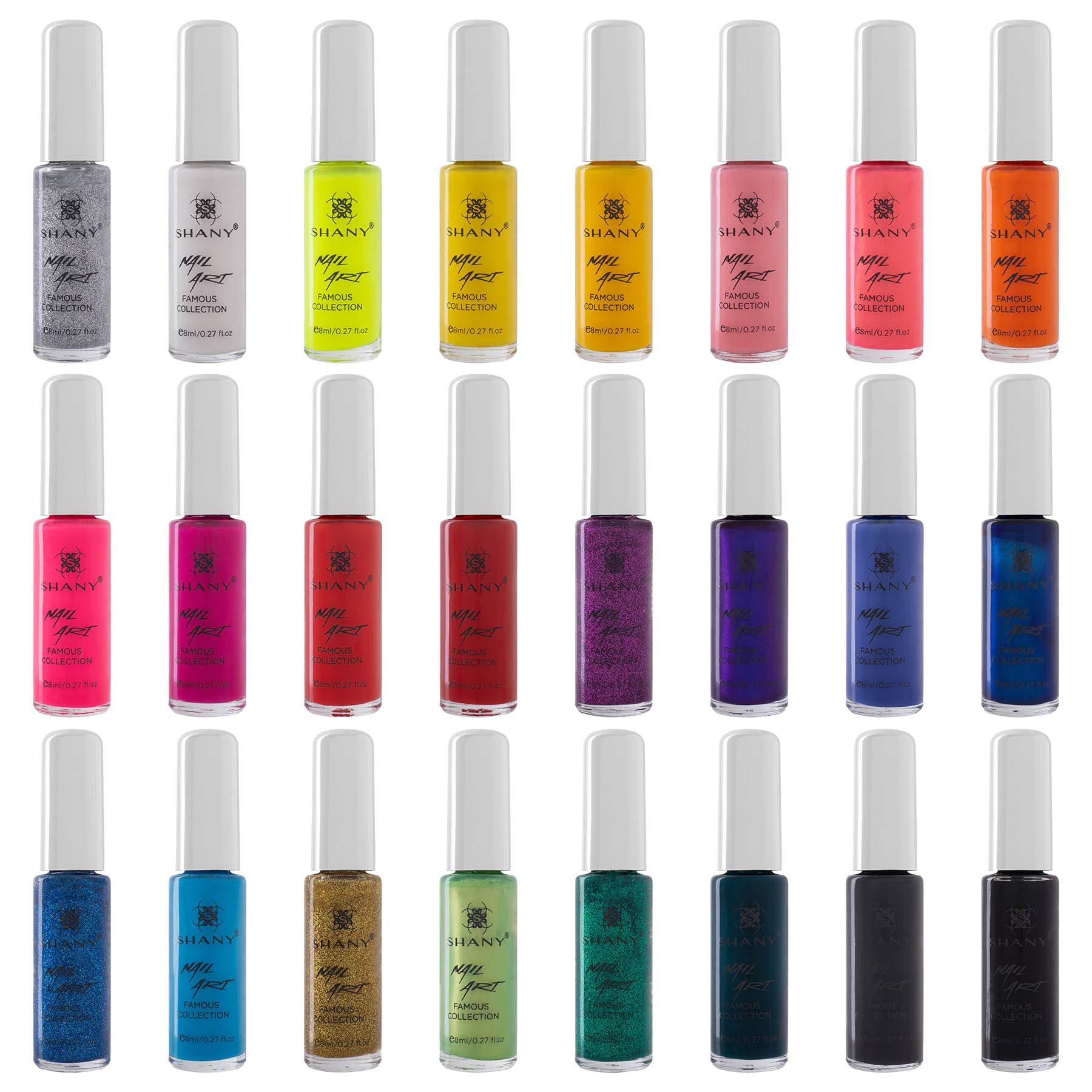 SHANY Nail Art Set (24 Famous Colors Nail Art Polish, Nail Art Decoration) by SHANY Cosmetics