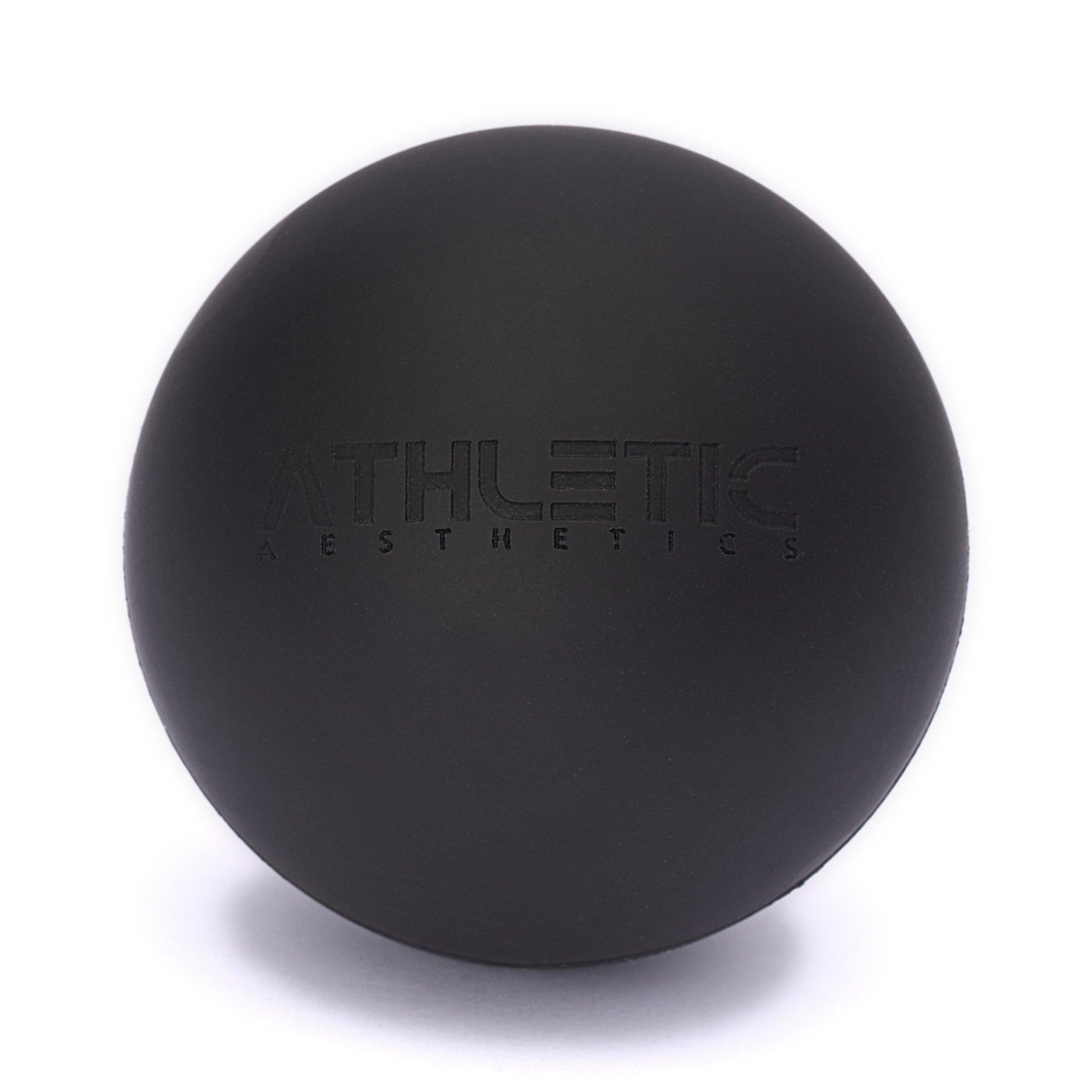 Lacrosse-Ball + Mobility Guide - Als Massage-Ball und Faszien-Ball zur Selbstmassage und zur Triggerpunkttherapie (genaue Behandlung von Verspannungen) geeignet - Anwendung in der Physiotherapie - ATHLETIC AESTHETICS product image