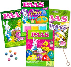 Variety Pack Dudley's and Paas Easter Egg Decorating Kits. Pack of 4. (Decorating Kits will vary but not duplicated)
