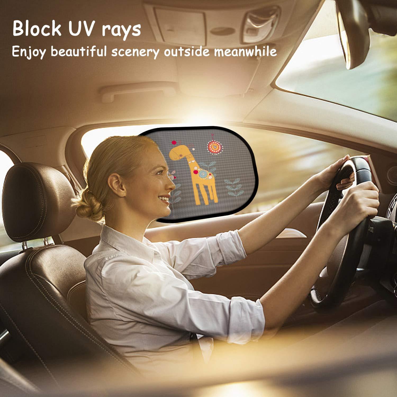 2er s/ü/ßen Tier Motiven Autofenster Sonnenschutzrollos Kompatibel mit Meisten Autos und SUVs Sonnenschutz Auto Baby Sonnenblende mit Uv Schutz ,Advanced Selbsthaftende Sonnenschutz Auto Baby Kinder