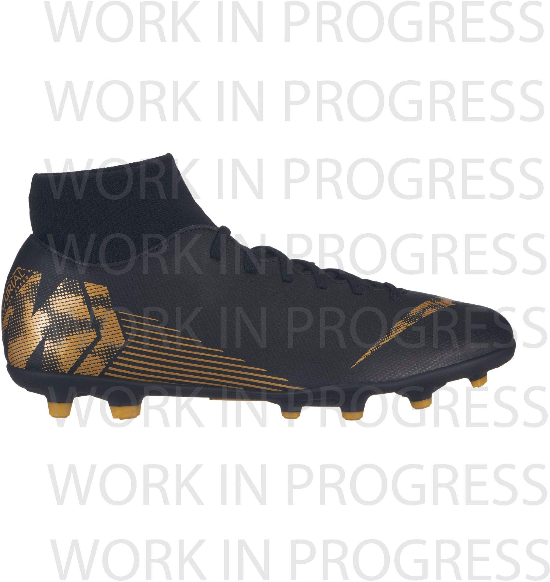 Nike Men's Superfly 6 Club (MG) Multi Ground Soccer Cleat (10 M US, Black/Metallic Vivid Gold) by Nike
