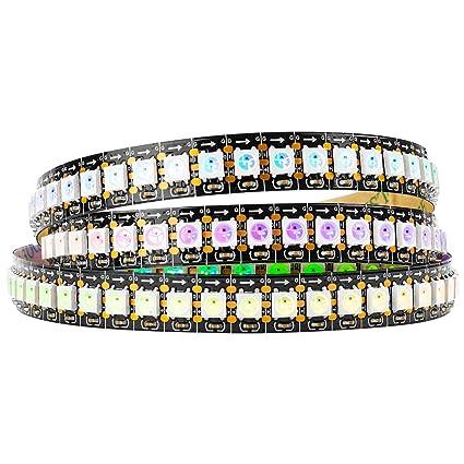 brand new 1ea53 60819 BTF-LIGHTING WS2812B 144 LEDs/Pixels/m Black PCB Individual Addressable  Full Color led Pixel Strip Dream Color Non-Waterproof 3.2FT 1m