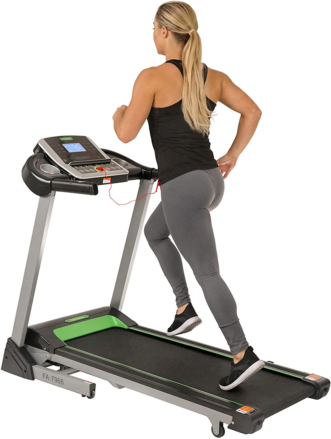 Fitness Avenue Treadmill with Incline and Bluetooth Speakers by Sunny Health & Fitness