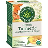Traditional Medicinals Organic Turmeric with Meadowsweet & Ginger Herbal Tea (Pack of 6), Supports a Healthy Response To Infl