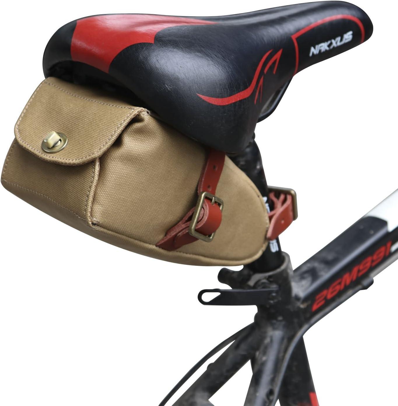Leather Saddle Bag Bike