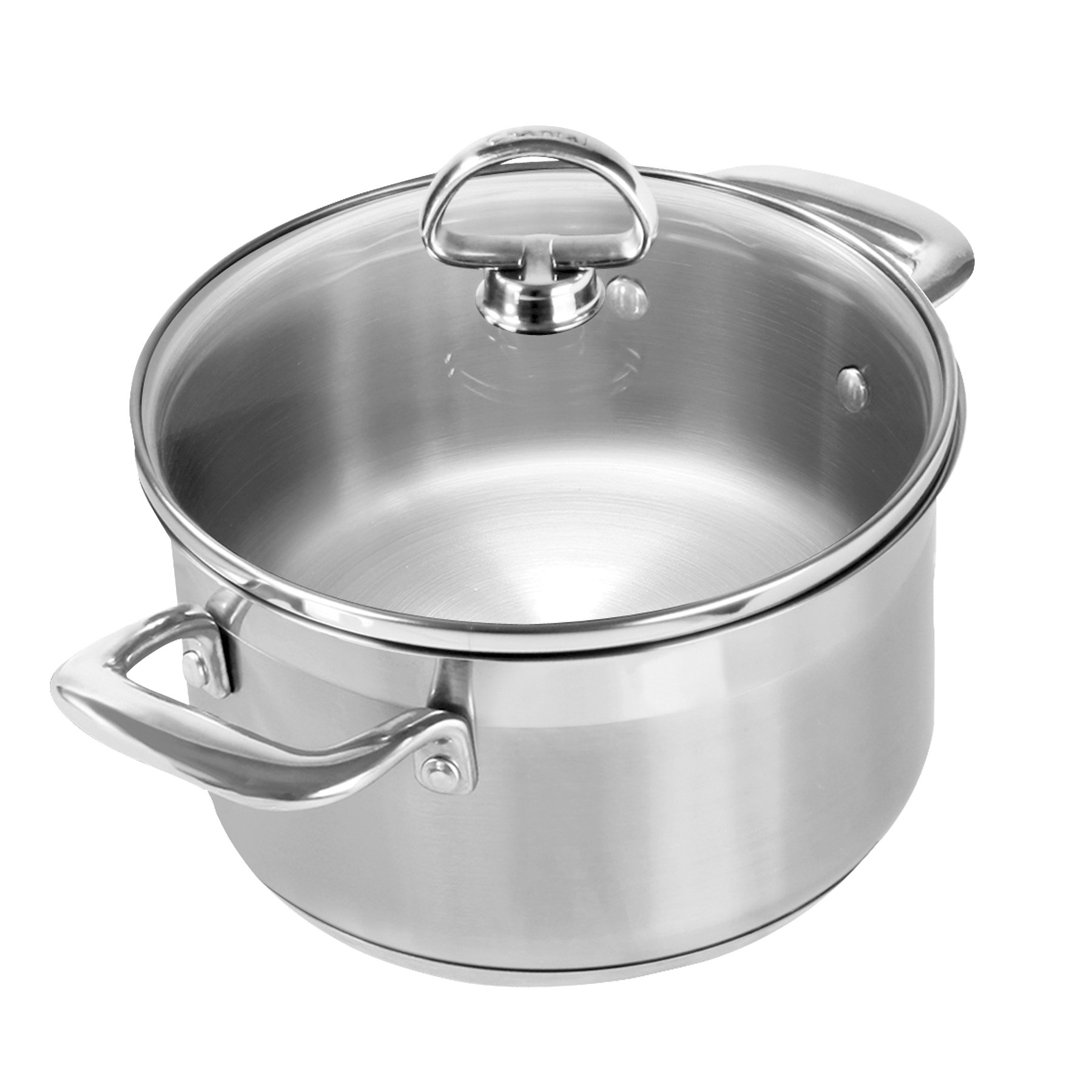 Chantal SLIN32-160 Induction 21 Steel Soup Pot with Glass Tempered Lid (2-Quart)