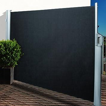 Amazon De Noor Seitenmarkise Polyester Anthrazit 160 X 300 Cm