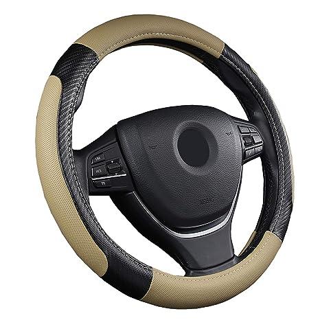 15 Antiscivolo Traspirante Durevole SFONIA Coprivolante per Auto Protezione Custodia Volante Cover in Pelle Artificiale Universale 37-38cm