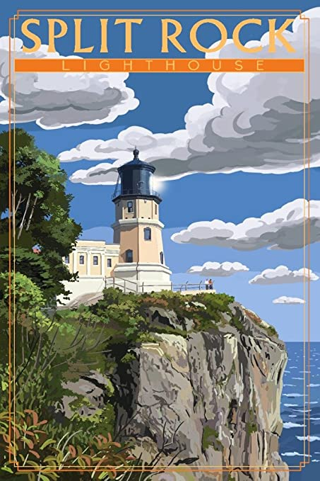 E Lighthouse Art Print Home Decor Wall Art Poster
