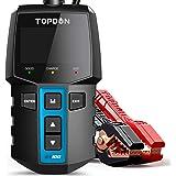 Car Battery Tester 12V Load Tester, TOPDON BT100 100-2000 CCA Automotive Alternator Tester Digital Auto Battery Analyzer…