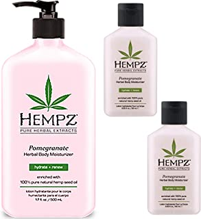 product image for Hempz Herbal Body Moisturizer Light Pink Pomegranate 17 oz + 2-2.25 Travel Sizes | Shrink Wrapped in Strong Box for Storage