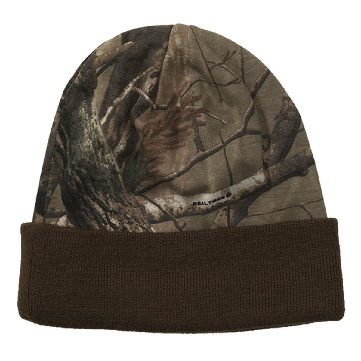 Realtree Licensed Camo Knit Cuff Beanie Brown by Realtree