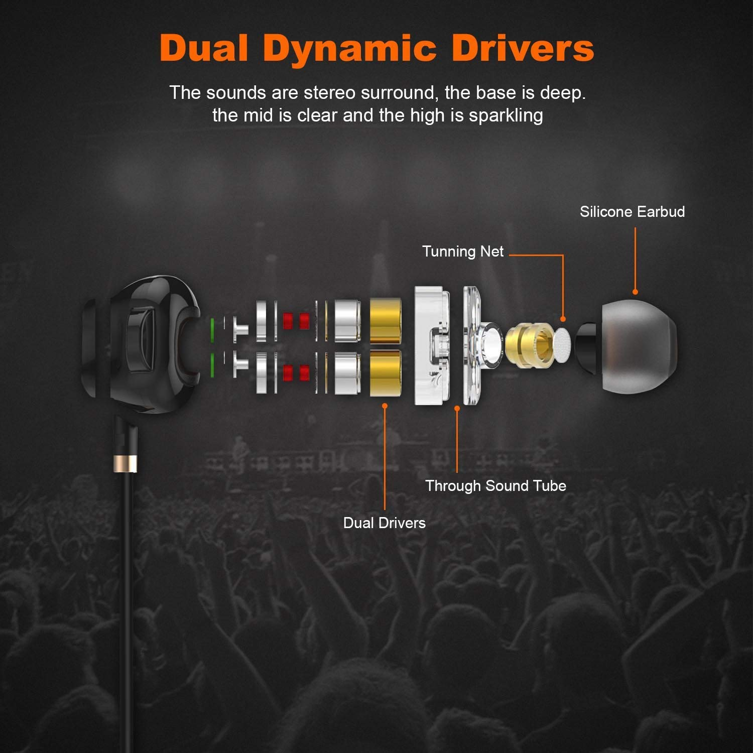 Redamancy Dual Drive Wired In Ear Earphones With Mic Amazon In