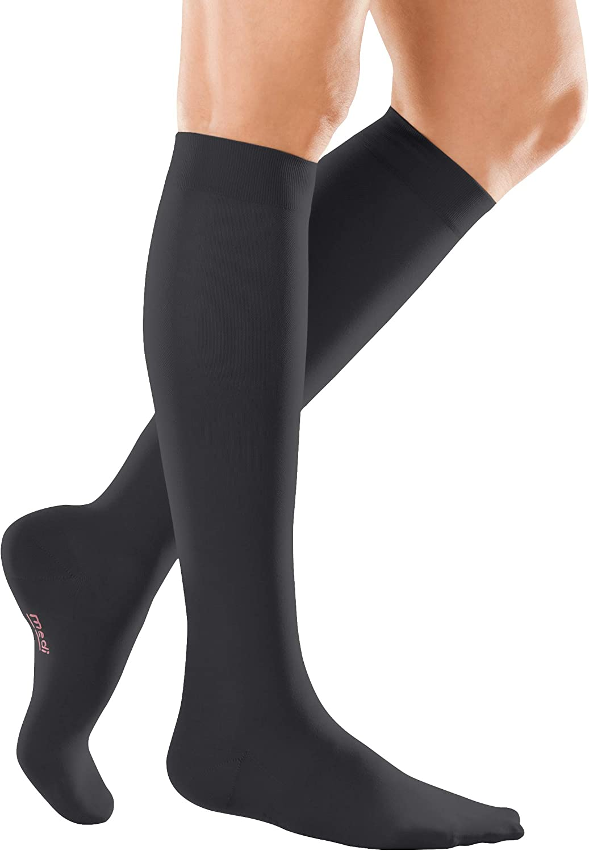 mediven elegance CCL2 Below Knee Closed Toe Compression Stockings Black Standard Length Size VII