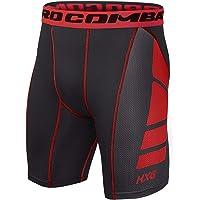 Hivexagon Pantalones Cortos de Compresión de Media Pierna para Deportes, Correr y Entrenamiento de Gimnasio SM008