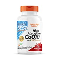 Doctor's Best High Absorption CoQ10 with BioPerine, Vegetarian, Gluten Free, Naturally Fermented, Heart Health & Energy Production, 300 mg 90 Veggie Softgels