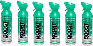 product image for Boost Oxygen Natural 10 Liter Pure Oxygen Canister, Menthol Eucalyptus (6 Pack)