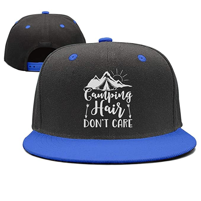 12ff8e6956dfc Classic Camping-Hair-Don t-Care- Printing Outdoor Twill Baseball Cap for Men  at Amazon Men s Clothing store