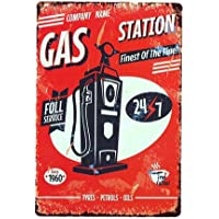 Ndier Vintage Plate Poster Metal Gas Station Pared