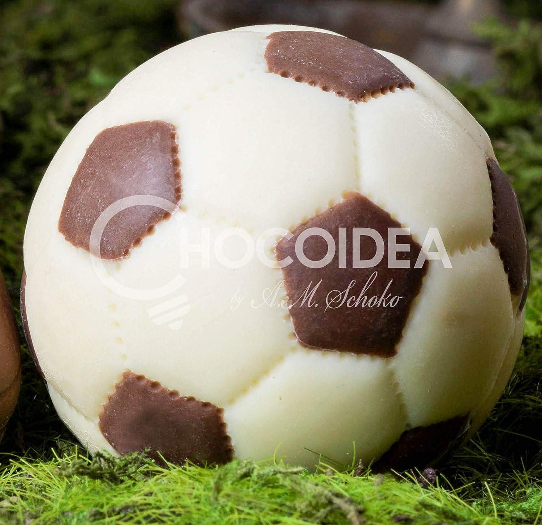 Choco Balón de Fútbol/Choco Football, 100% artesanal, hecha a mano ...