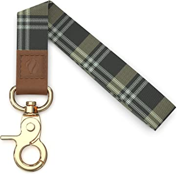 Womens Key Ring Key Fob Wristlet Green Daisy Key Fob Key Lanyard Wrist Lanyard Wristlet Keychain Keychain Wristlet