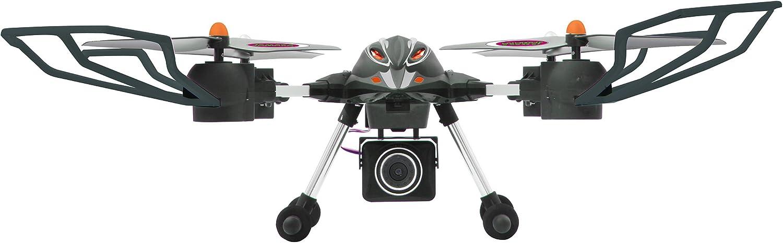 Jamara 422007 - Oberon Altitud AHP HD cámara Quadrocopter, Negro / Rojo