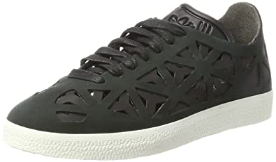 new style 4da18 b10d9 adidas Gazelle Cutout, Baskets Basses Femme, Noir Core BlackOff White, 38