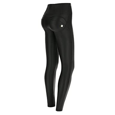 99be1d90efdff0 FREDDY WR.UP Black Faux Leather Pants | High Waist, Full Length | Booty