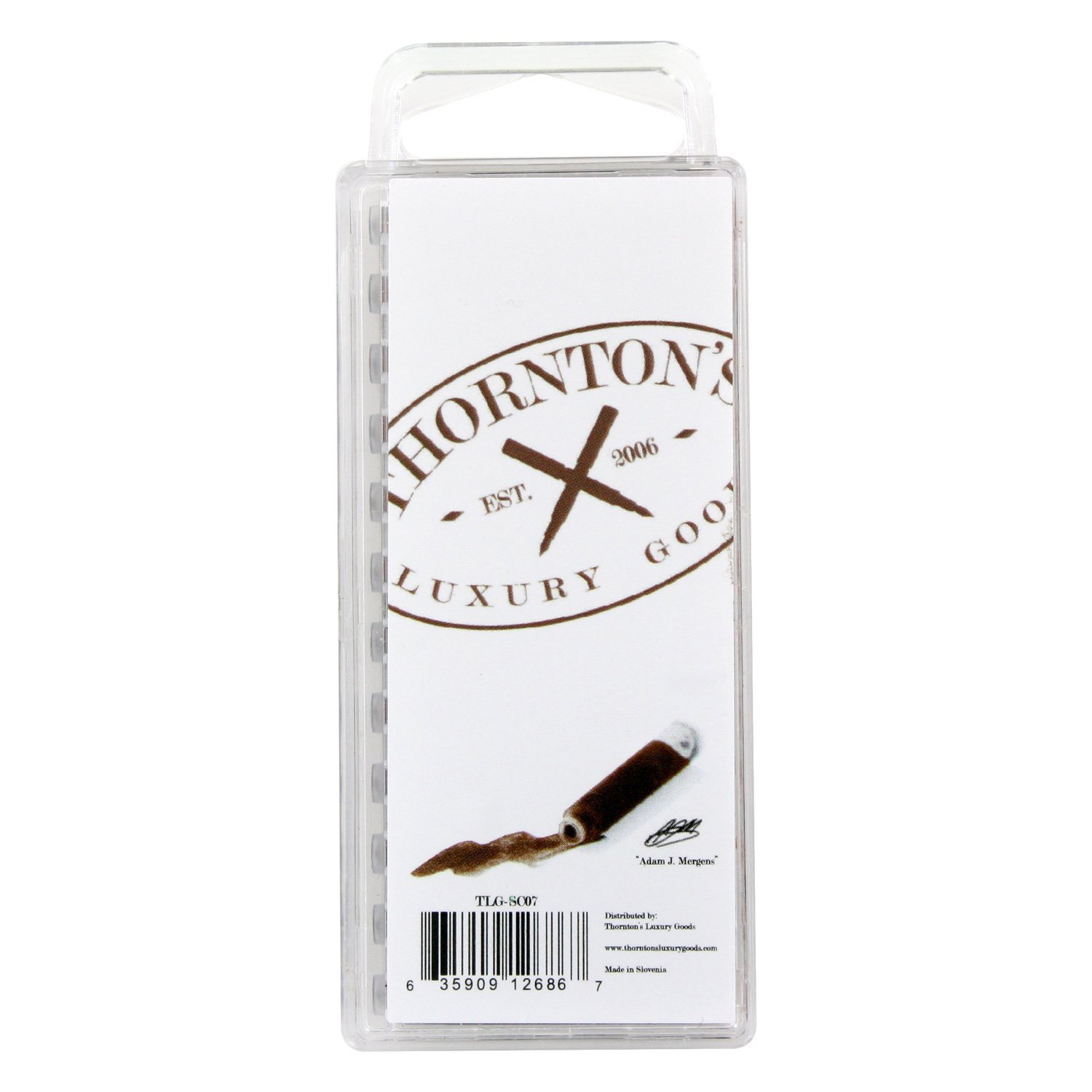 Thornton's Short Standard Fountain Pen Ink Cartridges, Brown Ink, Pack of 144 by Thornton's Luxury Goods (Image #3)