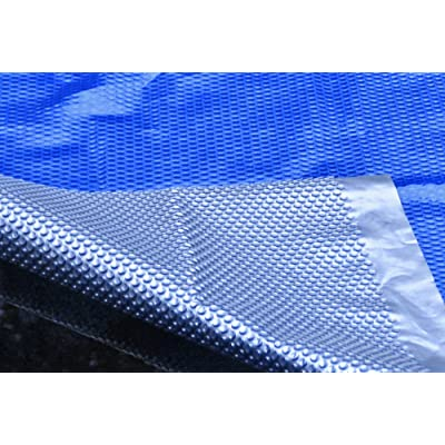 MidWest Canvas SC-BS-000042 Space Age 16 by 32-Feet Rectangular Inground Solar Cover, Blue/Silver : Swimming Pool Covers : Garden & Outdoor