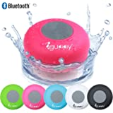 Guppy Water Resistant Bluetooth Shower Speaker - Wireless Portable, Kid-friendly, Built-in Control Buttons, Speakerphone, Powerful Suction Cup, w/Safety Lanyard - Best for Indoor/Outdoor Use (Pink)