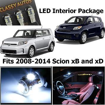 scion xd 2008 white. classy autos scion xb xd white interior led package 6 pieces xd 2008 white