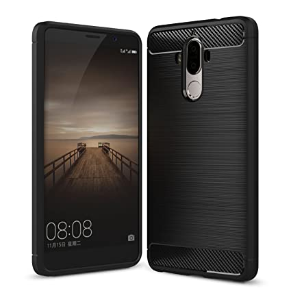 Ivso - Funda protectora para Huawei Mate 9, carcasa de silicona negro negro